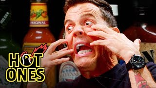 Steve-O Tells Insane Stories While Eating Spicy Wings | Hot Ones width=