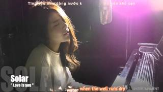 [YONGKONGVN][VIETSUB][Making] 'Love Is You' Cover by 솔라(마마무) (Solar of MAMAMOO)