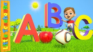 ABC Phonics Song For Children | Learn Colors & Shapes width=