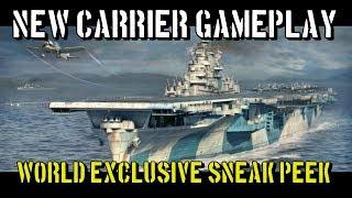 World of Warships - New Carrier Gameplay - World Exclusive Sneak Peek!