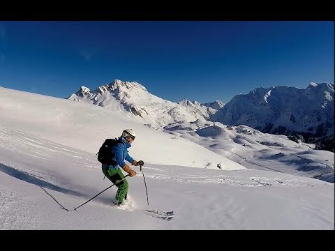 Deep snow skiing,  skiing powder basic technique tips