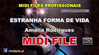 ♬ Midi file  - ESTRANHA FORMA DE VIDA  - Amália Rodrigues