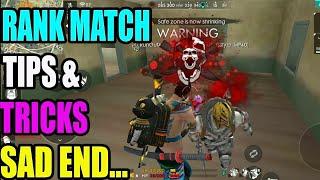Sad end Rank match || Rank match tips and tricks|| Run Gaming Tamil