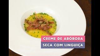 Receita - Creme de Abóbora Seca com Linguiça