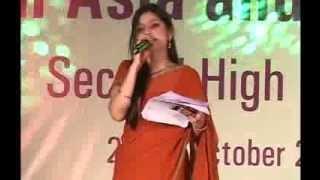 Anchor Aditi Sharma hosting Cultural Event