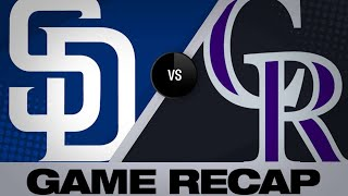 Padres plate 4 in 9th to shock Rox, 14-13   Padres-Rockies Game Highlights 6/16/19