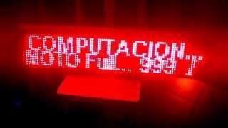 CARTEL o LETRERO LED PROGRAMABLE 96x16 ZN