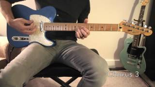 """""""Look To The Son"""" Lead Guitar Tutorial - Hillsong Worship"""