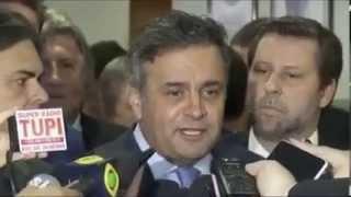 Senador Aécio Neves comenta o panelaço do dia 08-03-2015