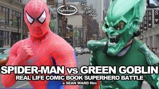 Spider-Man VS Green Goblin - Real Life Superhero Battle