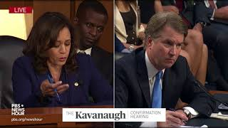 """Do you sir, believe there blame on both sides?"" Sen. Harris asks Kavanaugh about Charlottesville"