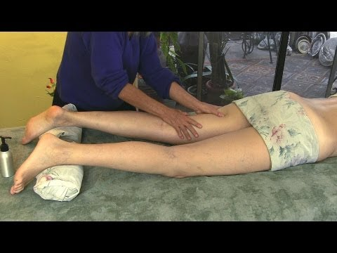 Legs & Thigh Massage Therapy Techniques, How to Give Relaxing ...