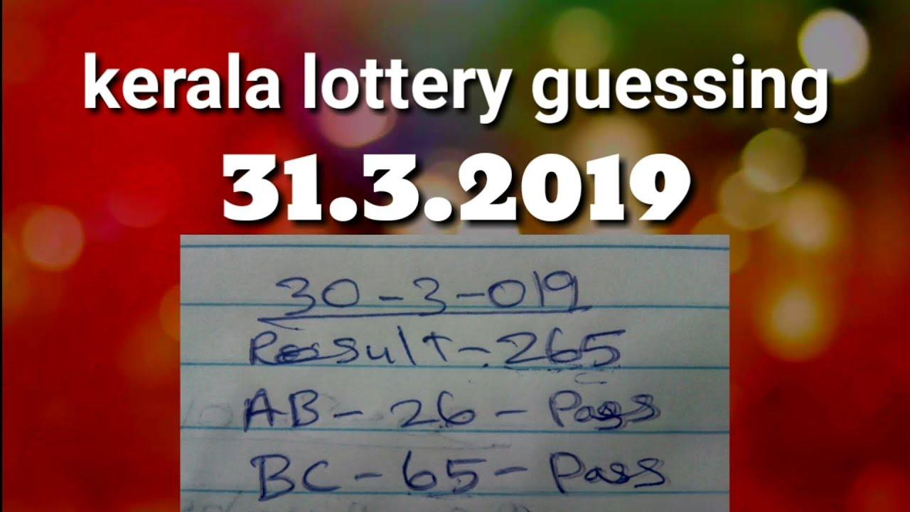 Download thumbnail for 31 3 2019 BC kerala lottery guessing