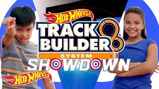 Track Builder Showdown! Kayden vs. Audrey | Track Builder | Hot Wheels