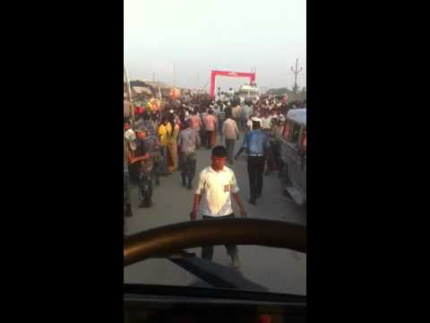 A traffic jam in Nepal