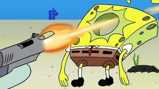 "Catch me outside but Everytime ski mask says ""aye"" Squidward shoots spongebob"