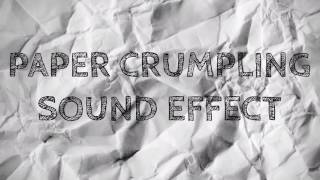 Paper Crumpling Sound Effect (Royalty Free)