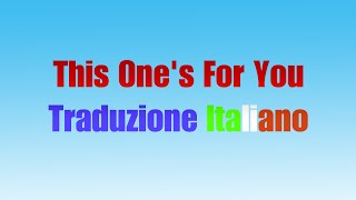 This One's For You - David Guetta (Traduzione Ita)