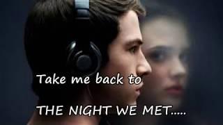 Lord Huron - The Night We Met  (lyrics)