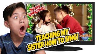 TEACHING MY SISTER HOW TO SING!!! Kids React to Christmas Carol Flashback! TOP 10 Countdown #5