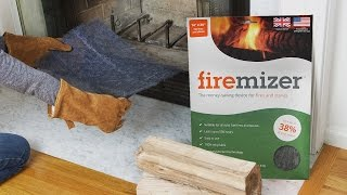 Same amount of wood. Longer-lasting fire.