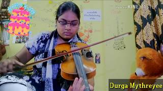 Happy birthday song on violin|Durga Mythreyee|