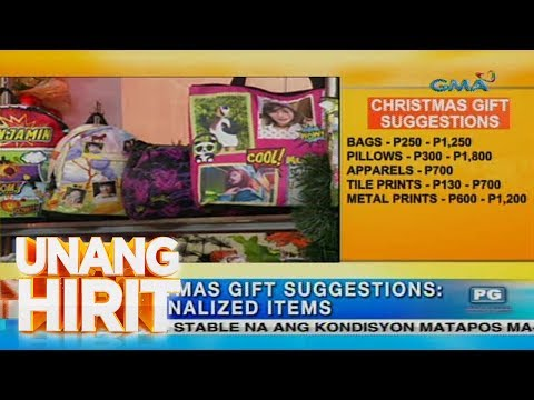 Unang Hirit: Christmas Gift Suggestions: Personalized Items | Video ...
