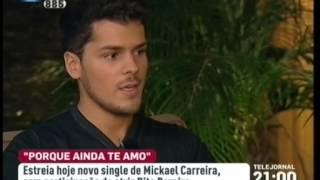 Mickael Carreira - Telejornal RTP1 - Apresentação Porque Ainda Te Amo