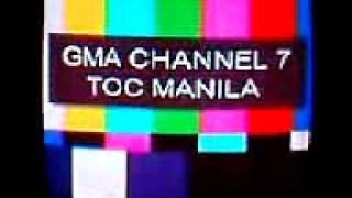 DZBB-TV (GMA 7 Manila)Test Card