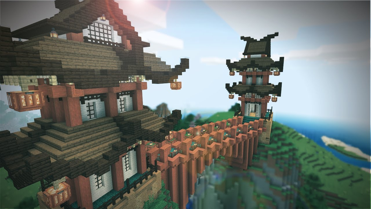DaphneElaine - Minecraft: Japanese Twin Temples!  - Survival Let's Play - Ep. 109