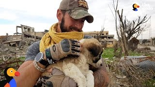 Soldier Saves Puppy Then Realizes He Can't Live Without Her | The Dodo width=