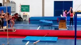 Meu treino de Rodante flic flic. Treino de ginástica olímpica e ginástica artística