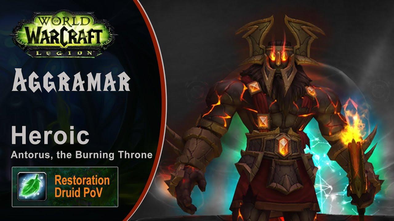 [LGN] Aggramar, Heroic Antorus, Restoration Druid PoV (Game Sounds Only)