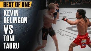 "ONE: Best Fights | Kevin Belingon vs. Toni Tauru | Kevin Belingon ""Silences"" Toni Tauru | Apr 2017 width="