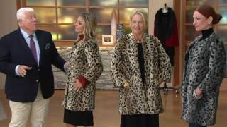 Dennis Basso Faux Fur Collarless 3/4 Sleeve Long Coat on QVC