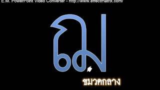 วิดีทัศน์บรรยายการคัดลายมือภาษาไทย