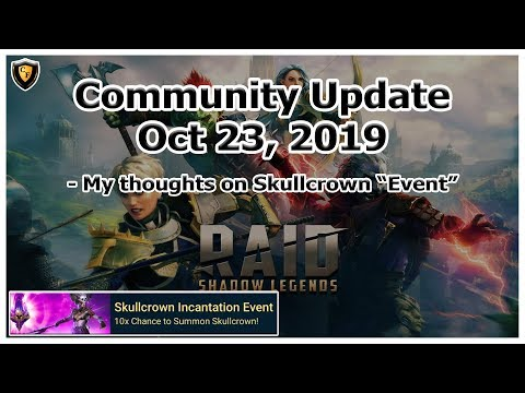 RAID Shadow Legends | Community Update | Oct 23, 2019 | Skullcrown Event