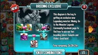 Monster Legends - Joker breeding event - Monky breeding