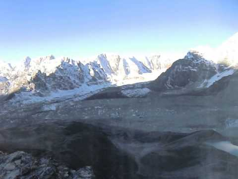 Morning View of Everest from Everest Base Camp kalapathhar Nepal