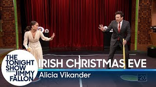 Alicia Vikander Teaches Jimmy a New Swedish Game