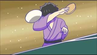 【手描きおそ松さん】男日パロで六つ子と卓球【おそ松さん】