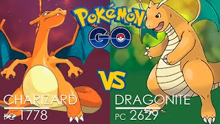 Pokémon GO Gym Battle ☢ Charizard vs Dragonite with HYPER BEAM