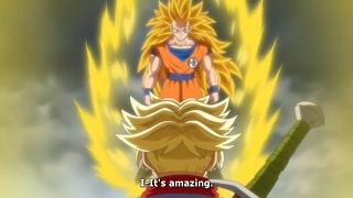 SSJ3 Goku vs SSJ2 Future Trunks - Full Fight (English Subbed) HD