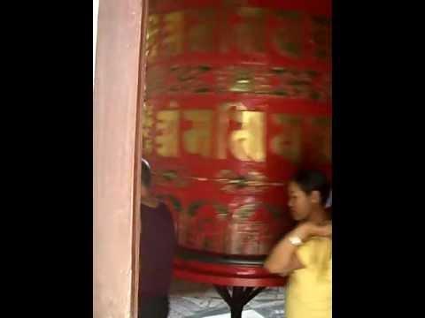 Prayer wheel, Boudhanath, Kathmandu, Nepal, Asia