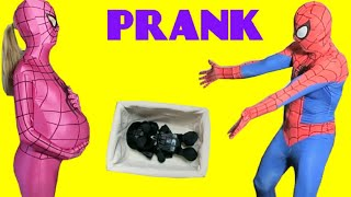 EMBARAZADA muchacha de la araña BROMA - hombre araña vs Darth Vader Gracioso superhéroe