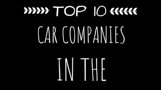 Top 10 car companies in the world||top 10 videos top10videos top10 videos top 10videos