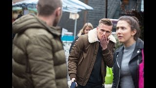 EastEnders - Keanu Taylor Punches Hunter Owen (28th January 2019)