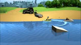 LEGO SUV cu ambarcatiune - LEGO 60058 City animatie