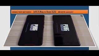 Speed test between  Sony XZ2 Premium vs Asus ROG Phone   ## 2019 ##january