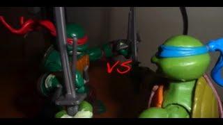 Leonardo vs Raphael TMNT Stop-Motion